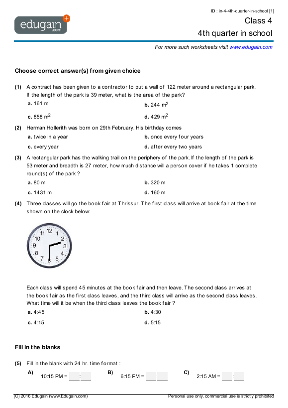 Time Worksheets | Time Worksheets for Learning to Tell Time